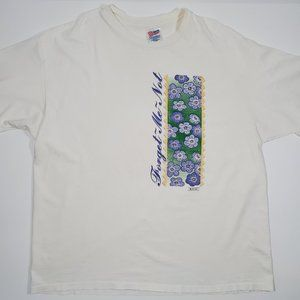 Vintage 90's MADD Forget Me Nots Single Stitch XXL